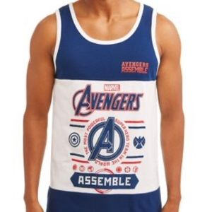 Marvel Avengers Assemble Blue & White Tank Top
